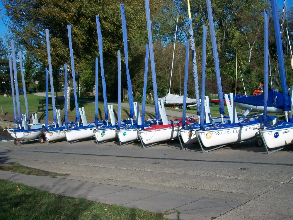 Access Dinghies on the quay